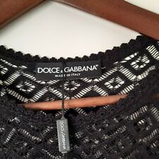 Dolce Gabbana Black Sheer Lace Bodycon Mini Dress It42 Uk10 BNWOT