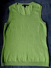 BODEN tank top , size 8 , Green, cotton with ribbed neck & sleeves