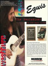 Craig Chaquico Signature Washburn EA26 Guitar Equis Preamp System 1996 ad print