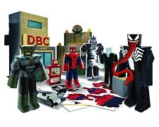 Marvel Blueprints Battle Oscorp Deluxe Pack Ultimate Spiderman Papercraft Age 6+