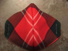 "Nice quality ""Scottish Tartan"" Red/Green Wool Blend Face Cover wire/lined/Wash"