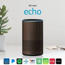 Amazon Echo New 2nd Generation Alexa Smart Home Automation Walnut Finish