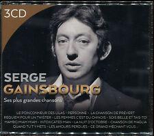 SERGE GAINSBOURG - SES PLUS GRANDES CHANSONS - 3 CD BOX NEUF SOUS CELLO