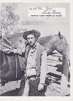#MISC-1016 VINTAGE 8x10 PHOTO - AUTOGRAPHED - SIGNED - LUCKY BROWN - ACTOR