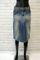 ROY ROGER'S Donna Gonna in Cotone Taglia Size 40 Skirt Women Blu Denim