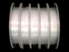 Nylon Thread 5 X 20m Rolls 0.3mm Clear Beading Jewellery Line Postage