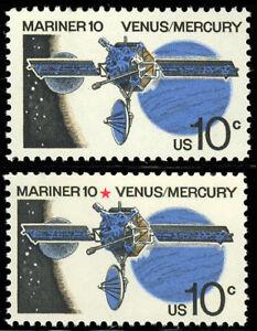 1557a Red Star Omitted MAJOR ERROR - Mariner 10 - Mint VF NH - Stuart Katz