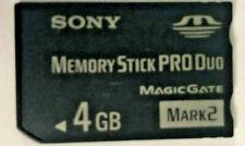 Memory Stick 4GB  PRO Duo Card - MS-MT4G/TQ Sony
