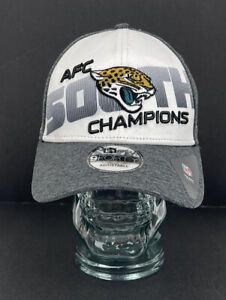 Jacksonville Jaguars Ball Cap AFC South Champions Gray White Snapback New Era