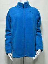 Columbia Youth Casual Outdoor Full Zipper Front Fleece Jacket Blue Size XL 18/20