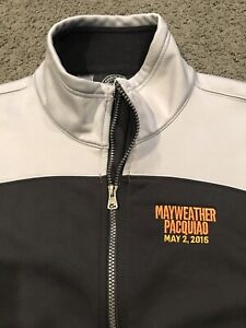 2015 Boxing Mayweather vs. Pacquiao Jacket Fleece XL by Charles River XL Vintage