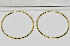Traviesa De Damas De Oro Amarillo 9 CT 25 mm Aro pendientes