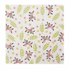 Floral Paper Napkins 100PC for Weddings Bridal Shower Tea Party Supplies, 2-Ply