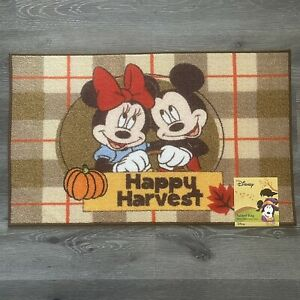 """Disney Mickey Minnie Mouse Happy Harvest Accent Rug Out Indoor  20""""x 32"""" New"""