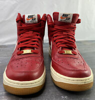 Nike Air Force 1 High Youth Basketball Shoes 653998-605 Red Sz 5.5Y
