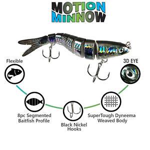 "BB Mullet 5.5"" Segmented Swimbait Fishing Lure   Amazing Action"
