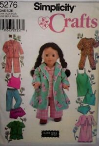 """Simplicity Crafts Pattern #5276, Clothes for 18"""" Fashion Doll - Uncut"""