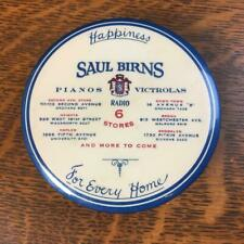 Antique SAUL BIRNS PIANO VICTROLAS Phonograph Record Duster Vinyl Cleaning Brush