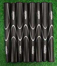 8 JumboMax Tour Series Black & Silver Golf Grips - Medium (+5/16), JM008