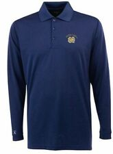"NWT Norte Dame ""Exceed"" Desert DryXtra-Lite Long Sleeved Polo Mens Small Blue"