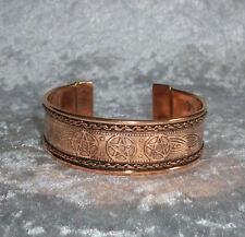 Armreif Keltisches Pentagramm aus Kupfer , Kelten Magie Esoterik Mode