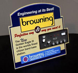 Browning CB Radio stand up ad sign Browning Mark III