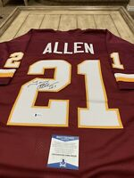 Terry Allen Autographed/Signed Jersey Beckett COA Washington Redskins