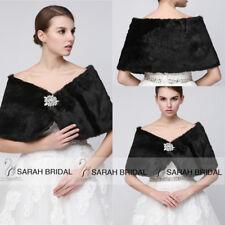 Gray Ivory Faux Fur Shawl Wrap Shrug Coat Bridal Wedding Dress Cocktail Stole XL