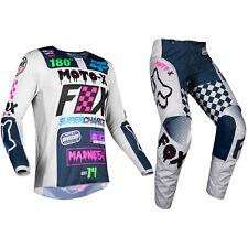 Ragazzi Bambini Fox Racing 180 Motocross MX Kit Pants Maglia - Czar Grigio