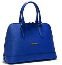Cristiano Pompeo 100% Italy handbag bag purse style alma leather epi blue € 379