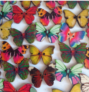 10 Wooden Butterfly Shapes, Size 21 X 27mm ~ Crafts Art Embellishments ~ New