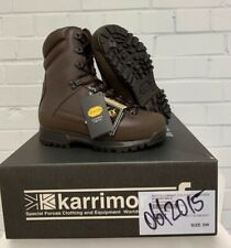 KARRIMOR COLD WET WEATHER BROWN LEATHER COMBAT BOOTS - 5 Wide, British Army NEW