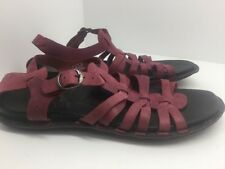 Keen Alman Gladiator Beet Red Strappy Sandals Women's Size 8.5