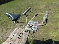 Vintage Bicycle Seat Child Seat Assembly