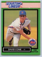 1989  DAVID CONE - Kenner Starting Lineup Card - NEW YORK METS