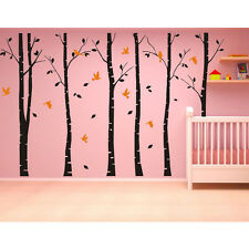 Large Forest Tree Bird Home Art Vinyl Living Room Wall Decor Decal Sticker Black