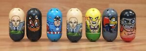 Genuine  Moose 2010 Marvel Mighty Beanz Collectible Super Hero Toys Lot of 7
