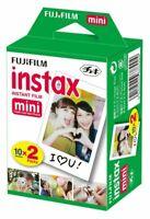 "Fujifilm 3"" Instax Mini 20 Impresiones De Papel Film-Fuji Instant 7s 8 9 Cámara"