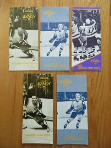 (5) 1980-82 LOS ANGELES KINGS Training Camp Guides LARRY MURPHY NICHOLLS GRAVES