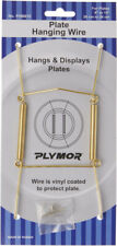 """Plymor Shiny Gold Mountable Plate Hanger 6.125""""H x 3""""W x .5""""D (Plates 8"""" - 10"""")"""