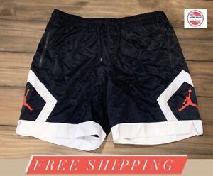 Nike Air Jordan Jumpman Mixed Diamond Shorts CK4152-010 Black/White Men's Sz XL