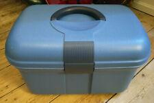 Curver Nähkästchen mit 2 Einsetzfächern Aufbewahrungsbox Nähkasten Nähkorb blau