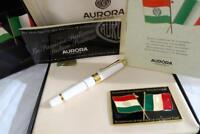 AURORA BICENTENARY BIRTH OF THE ITALIAN FLAG FOUNTAIN PEN BOXED & MINT 1396/1997