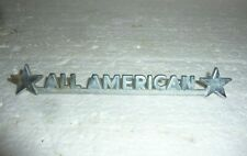 Vintage Chrome Larson Boat All American Small Chrome Name Plaque S-13