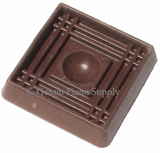 """Gemm Piano Rubber Caster Cup, Brown 1-5/8"""" inside Lenght"""