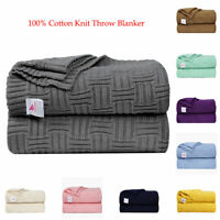 """Soft Knit Throw Blanket Bed Sofa Couch Decorative Cable Knit Pattern 40""""x 70"""""""