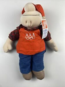 """18"""" Home Depot 1996 Olympic Homer D Poe Plush Vintage New With Tags NIP"""