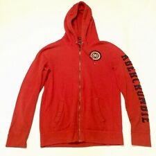 Abercrombie & Fitch Mens Red Hoodie Sweatshirt M Spell out Sweater California