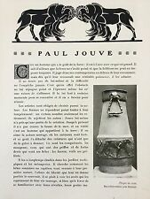 Paul Jouve Majorelle Revue L'Art Décoratif 1910 Documentation Art Nouveau