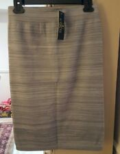 New Coco Limon Ladies Striped Stretch Knee Length Skirt L/XL S-102